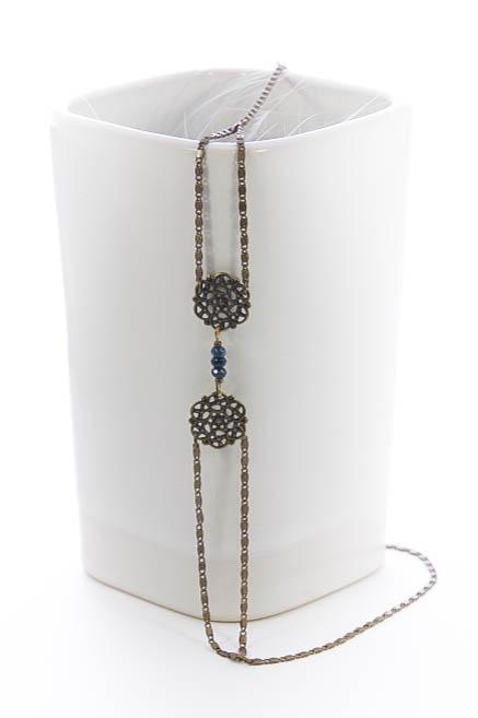 Headband Célesta, Bleu, bronze