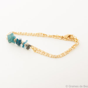 bracelet Savage, bleu, doré