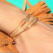 Bracelet Cyanne, doré, orange