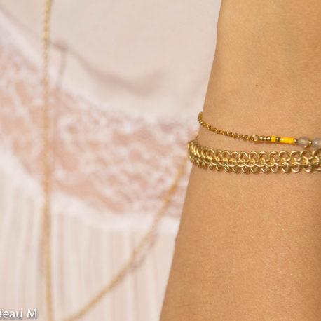 Bracelet Iya et Dentelle, doré, jaune GBM