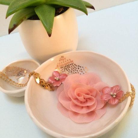 Headband Romantique, doré, rose